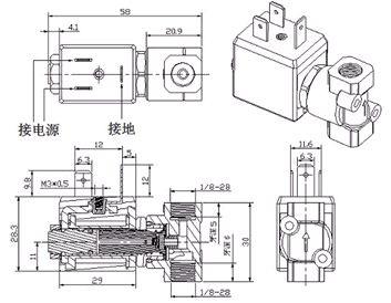 燃气灶电磁阀结构图片